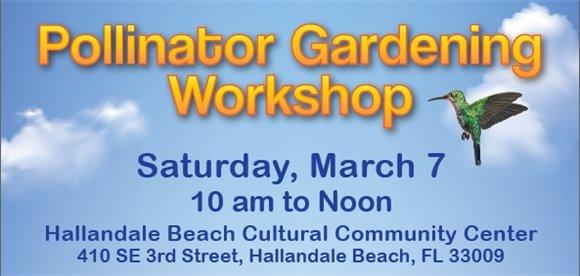 Pollinator Gardening Workshop with hummingbird