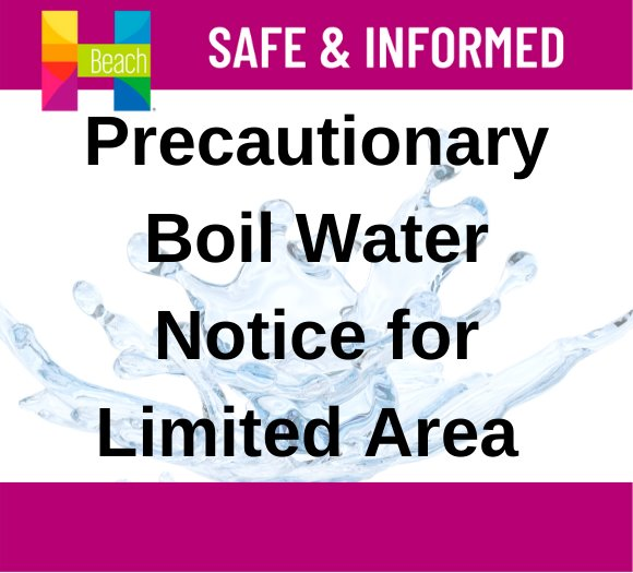 Limited area boil water notice