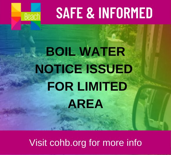 Boil Water Notice in Limited Area