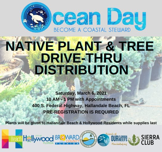 native plant drive through distribution March 6 from 10 am to 1 pm pre-registration required