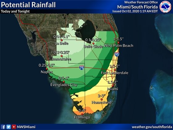 Potential Rainfall Map
