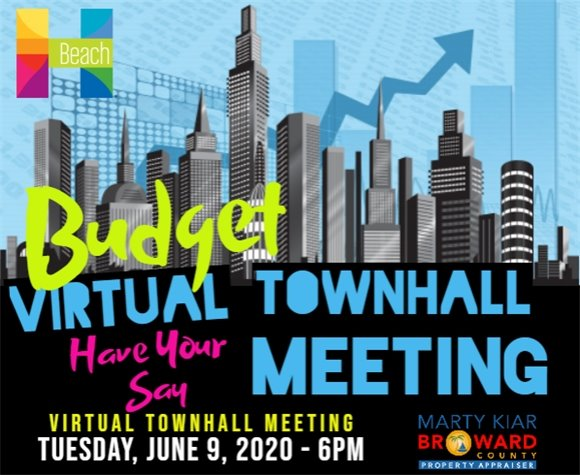 Budget Virtual Town Hall Meeting -Tuesday, June 9, 2020 at 6 PM
