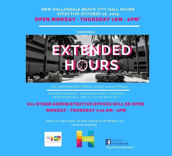 City has new operating hours