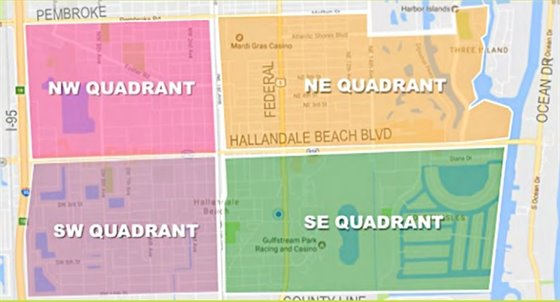 Map of Quadrants