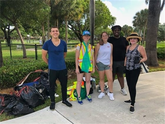 Volunteers from the last clean up at Scavo Park