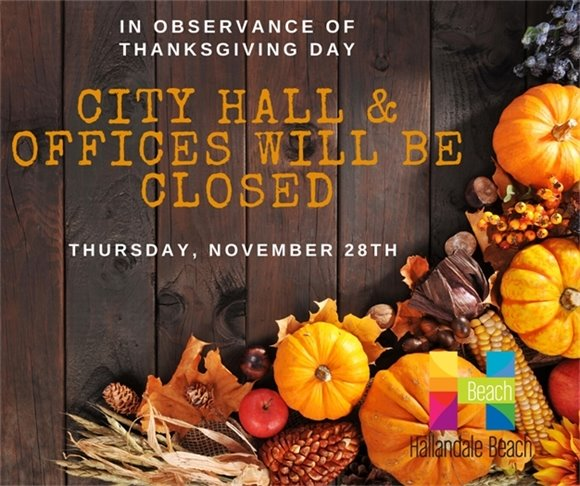 Thanksgiving Day Closure Notice