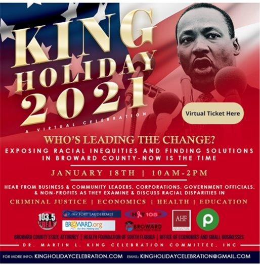 Dr MLK Jr Day Celebration Flyer