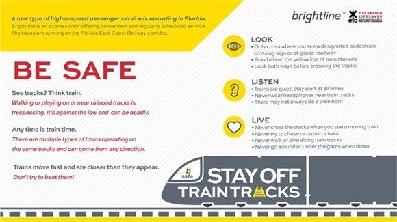 Railway Advisory near FEC Railroad Tracks