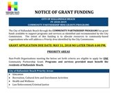 notice of grant funding