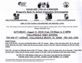 Back to school community extravaganza