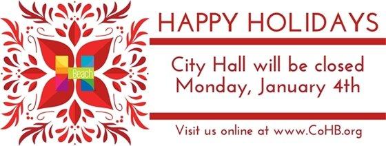 City Hall Closed January 4th