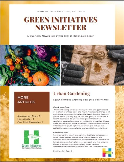 Green Initiatives Newsletter - Volume 11