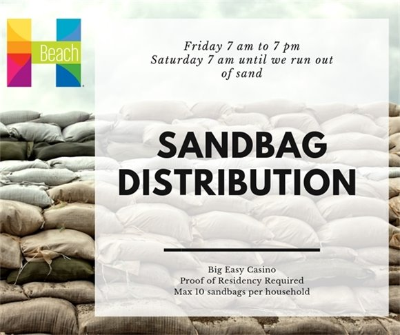 Sandbag Distribution 7 to 7 Friday