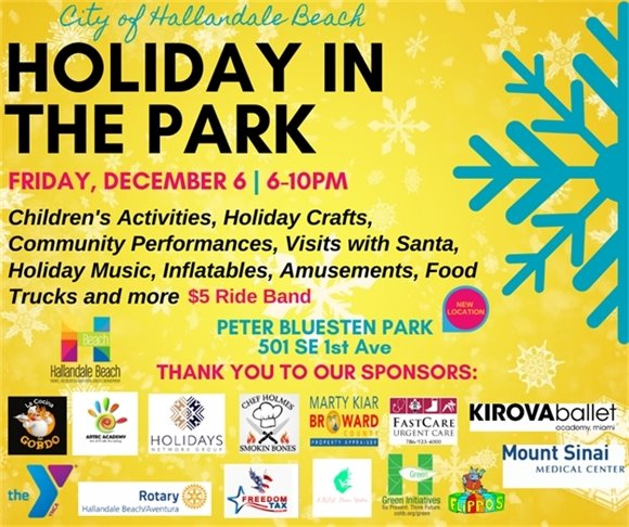 Holiday in the Park Flyer