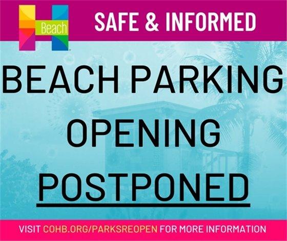 Beach Parking Closed