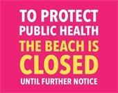 Beaches Closed