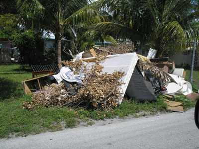 Accumulation of Junk and Debris