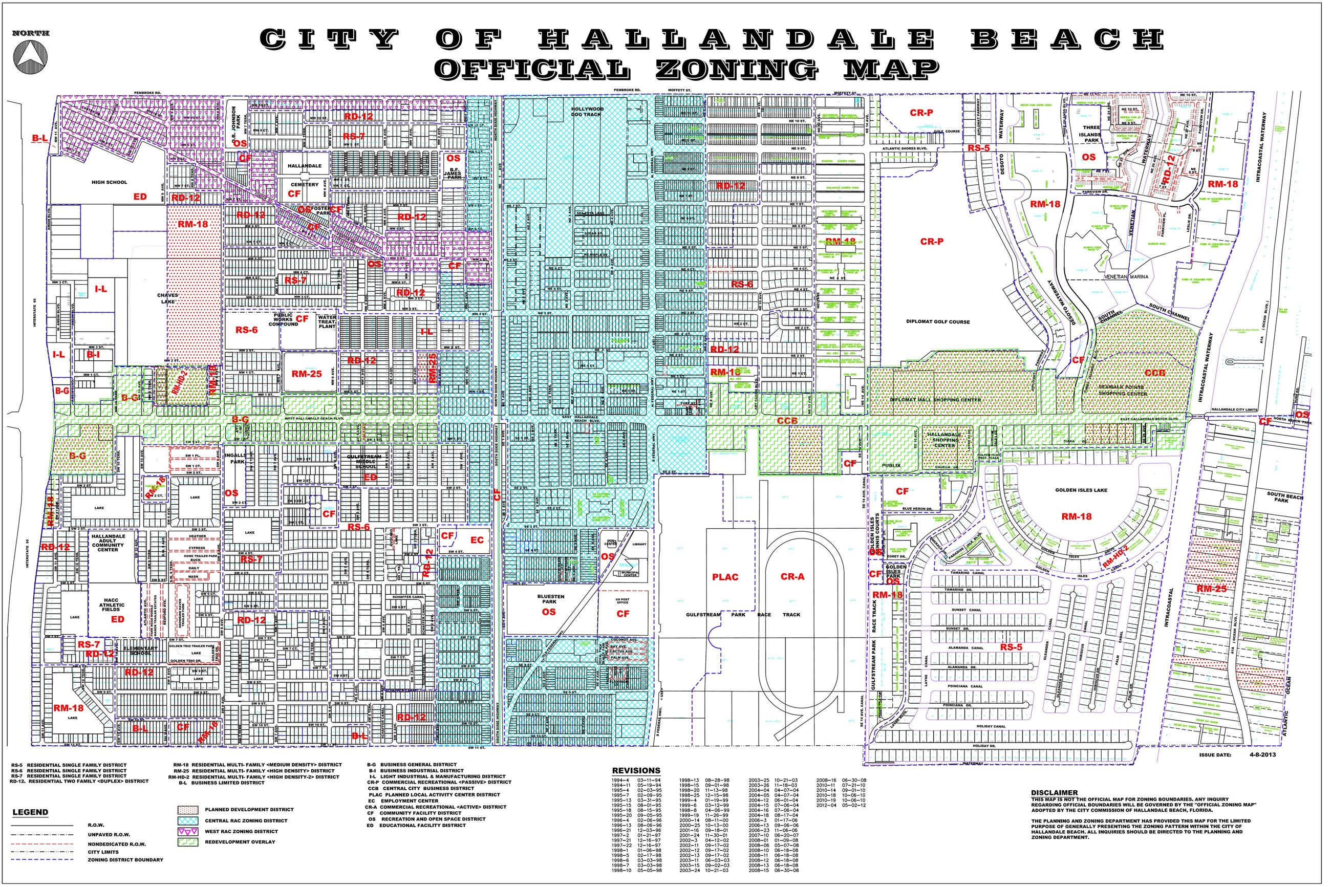 Hallandale Beach Zoning Map