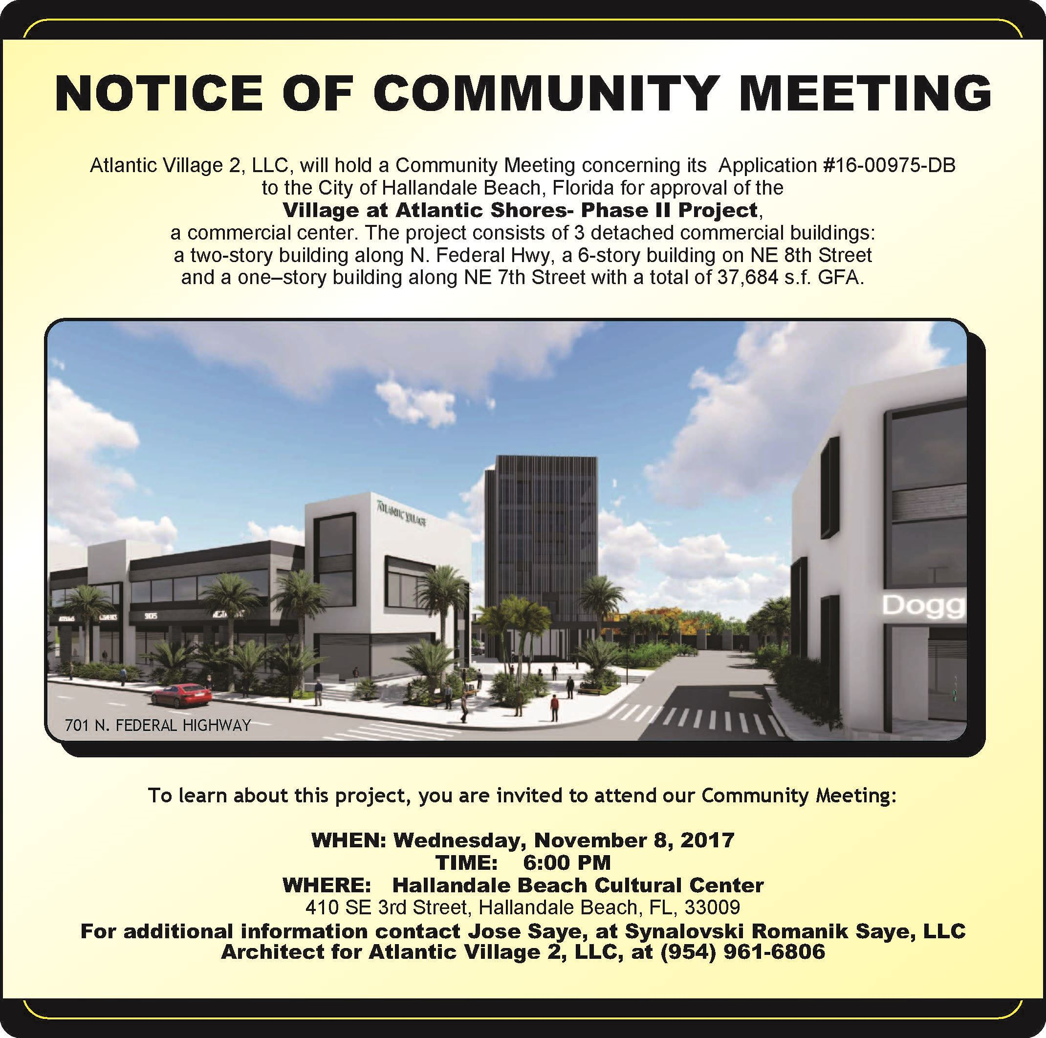 Community Meeting 11.8.17