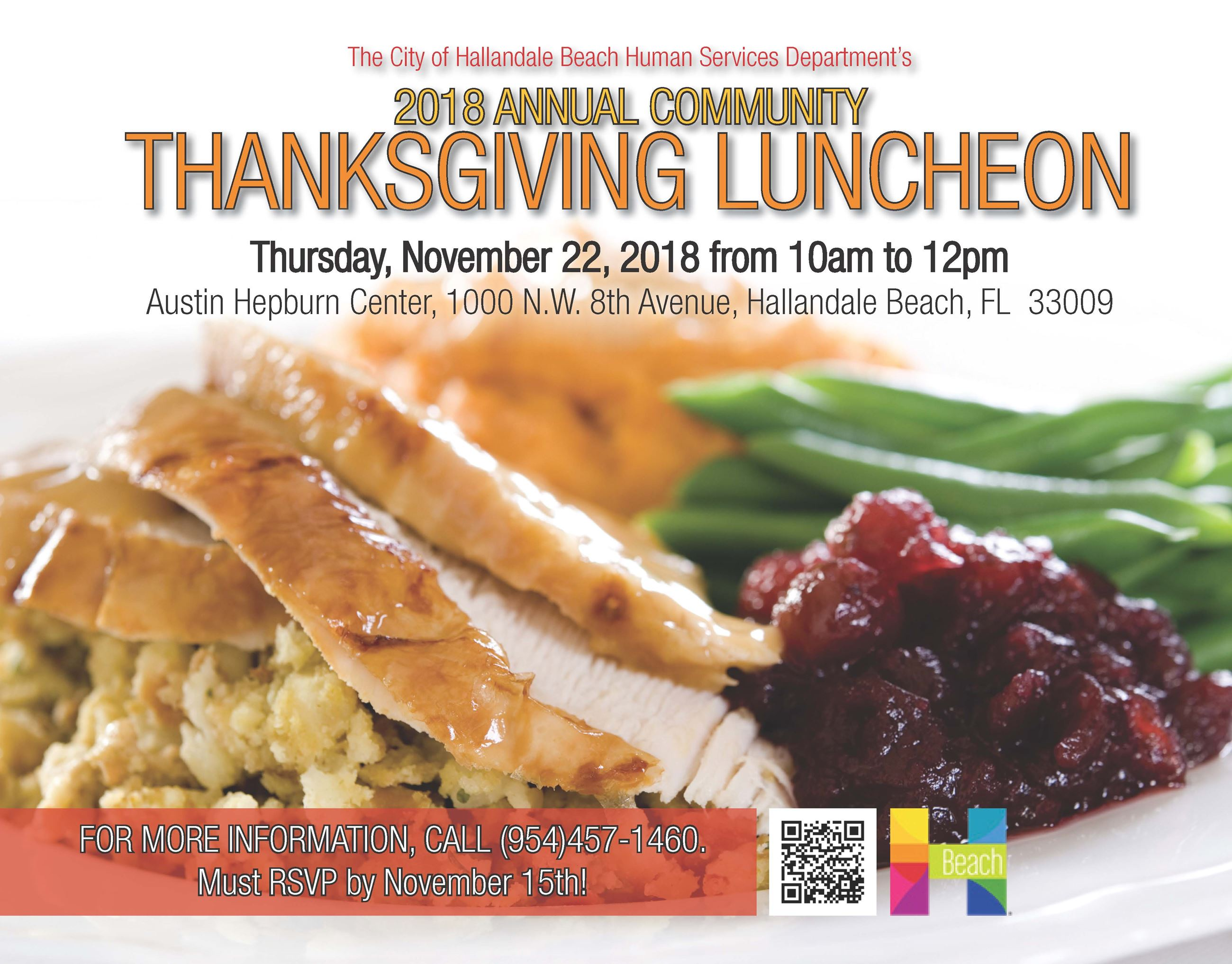 2018 Annual Community Thanksgiving Luncheon
