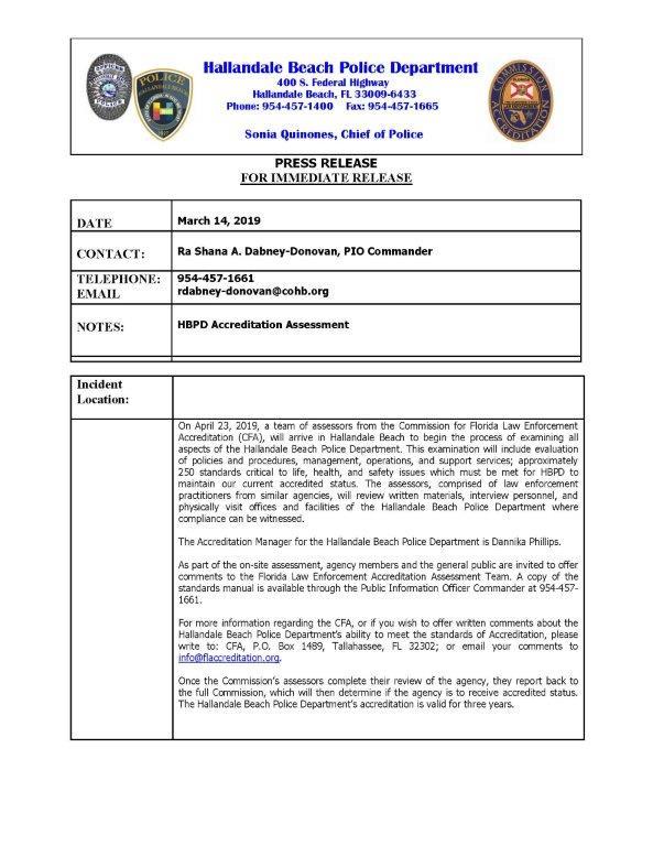 Police | Hallandale Beach, FL - Official Website