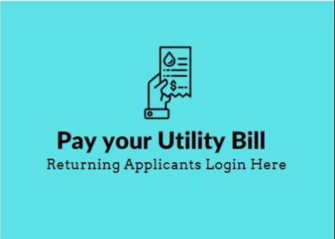 Button to Pay Utility Bill Online