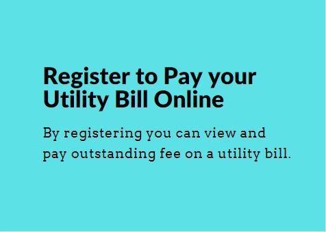 First time applicant button to register for Utility Bill Online