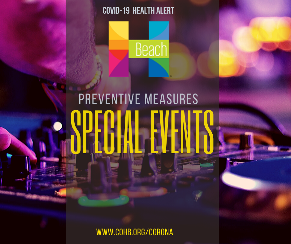 Special Events Corona Advisory