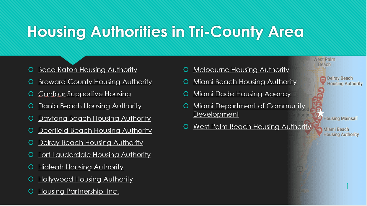 Housing Authority in Tri-County Area Information