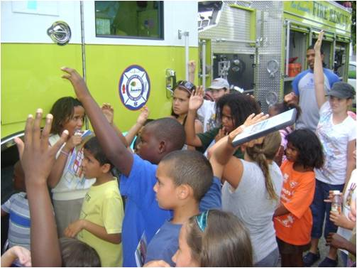 Questions during a Fire Engine Tour