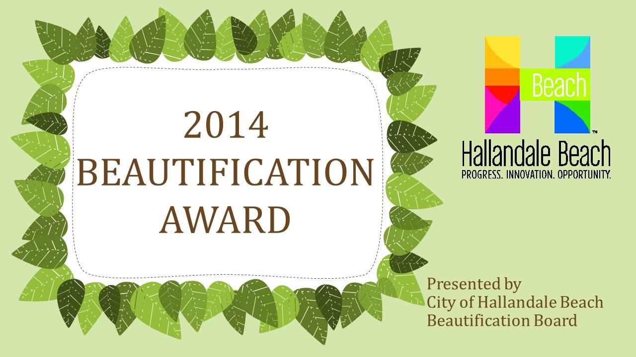 2013 Beautification Award