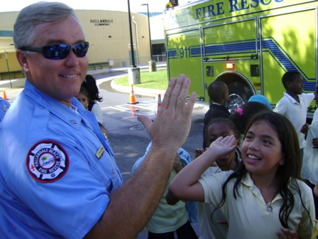 Driver Engineer McGlenn at Hallandale Elementary School