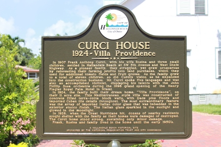 Curci House historic marker